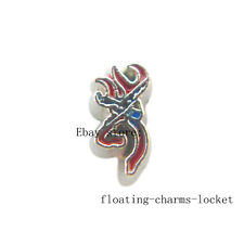 10pcs Red Deer Head  Floating Charms for Glass Locket Free Shipping FC1234