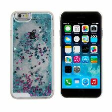 Falling Stars Liquid Glitter 3D Bling Blue iPhone 5/5s Case Cover UK seller!