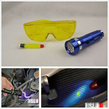 Car Air Conditioning UV Leak Detector A/C Detection w/ LED Light+Safety Glasses