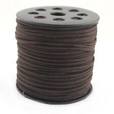 10 Yards/Bundle Dark Coffee Faux Suede Cord Leather Lace DIY Beading Thread
