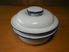 Mikasa New Avenues BLUE GLOW PT902 Round Butter w Lid