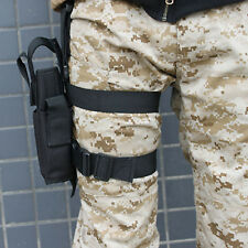 Thigh Holster Leg Drop Gun Bag CS Miltary Pocket Knife Pistol Pouch Packet Annex