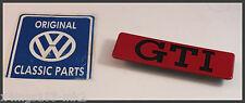 VW MK2 Golf GTI Genuine OEM Big Bumper - GTI Side Trim Badge - BRAND NEW!!