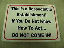 RESPECTABLE ESTABLISHMENT Metal Sign 4 Golf Course Driving Range Bar Pool Hall