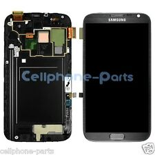 Samsung Galaxy Note 2 N7105 i317 T889 LCD Screen + Digitizer Bezel Frame Grey