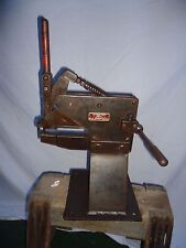 ANTIQUE KNURLING MACHINE.WITTMAN TOOLS HAND KNURLING BENCH TINSMITH,SILVERSMITH
