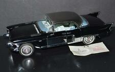 Franklin Mint 1/24 Car 1957 Cadillac Eldorado Brougham Black silver+custom doors
