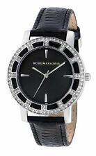 BCBG Womens Black and Silver Enchante Watch_ Brand New In Box