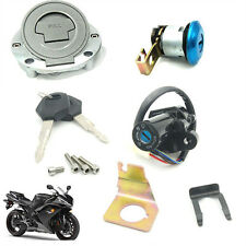 Ignition Switch Fuel Gas Cap Cover Seat Lock Key Set For Yamaha YZF R1 R6 R 1 6