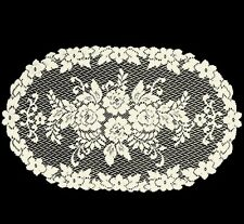 "Heritage Lace Ecru VICTORIAN ROSE 13""x 24"" Table Runner"