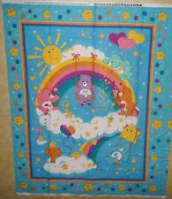 Care Bears Rainbow Cheater Baby Quilt Nursery Wallhanging VIP Fabric Panel