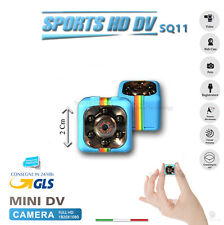 SQ11 TELECAMERA SPORT FULL HD MINI DV SPY MICRO CAMERA SPIA NASCOSTA COLORE BLU