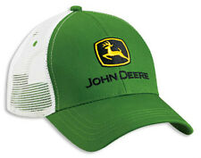 NEW John Deere Green Twill White Mesh Cap JD Hat LP41957