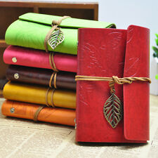 Vintage Notebook Diary String Leaf Travel Leather Paper Journal Sketchbook Gifts
