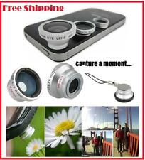 3 in 1 Fish Eye Wide Angle Macro Magnetic Lens Black For All Type Of Smartphones