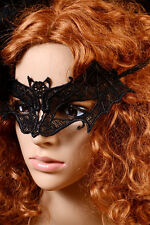 Ladies Black Lace Bat Mask Costume Holiday Dance Party Eye Women Dress Accessory