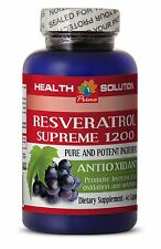Powder Resveratrol 1200 Anti-Aging - Resveratrol Supreme (1 Bottle 60 Caps)