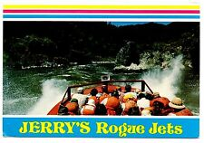 Jerry's Rogue Jets Vintage Postcard Boats River White Water Excitement Oregon