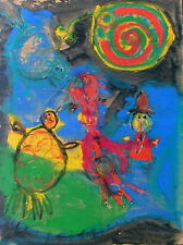 MODERN ART BRUT SPANISH ABSTRACT WASSILY KANDINSKY STYLE EXPRESSIONIST PAINTING