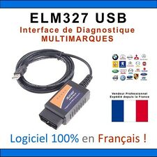 Câble Interface ELM 327 USB OBD2 II USB V1.5 Diagnostique Auto Multimarques