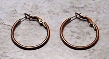 "Vintage Brass Tube Loop Hoop Earring Jewelry Pair 2mm 1"" Loop"