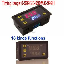 12V Cycle Timer Delay Time Switch Digital Display Relay Module 0-999 hr/min/sec