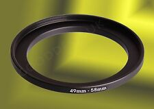 49mm to 58mm 49-58mm 49mm-58mm 49-58 Stepping Step Up Filter Ring Adapter