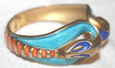 STRIKING AND RARE CROWN TRIFARI ENAMEL SNAKE BRACELET-EXCELLENT AND STUNNING!!!