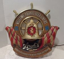 Vintage Stroh's Beer Welcome Aboard Nautical 1776-1976 Advertising Lighted Sign