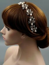 Bridal Jewelry Accessories Wedding Headpiece Crystal Headband Tiara 70 18K Gold