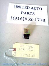 2003 03 CIVIC HONDA RELAY OMRON G4R-H22 Denso 056700-7410