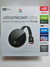 Google Chromecast Ultra - Black BRAND NEW FAST SHIPPING