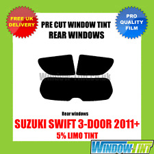 SUZUKI SWIFT 3-DOOR 2011+ 5% LIMO REAR PRE CUT WINDOW TINT