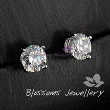 925 Sterling SILVER WHITE GOLD GF 1.0CT SWAROVSKI Diamond Stud EARRINGS E012