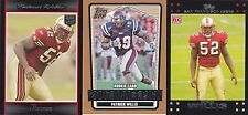 Patrick Willis 2007 Rookie card RC lot of 3 Bowman - Topps - DPP
