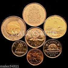 2012 COMPLETE COIN SET 1 CENT TO 2 DOLLARS UNCIRCULATED (8 COINS)