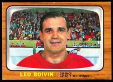 1966 67 TOPPS HOCKEY #50 LEO BOIVIN EX-NM DETROIT RED WINGS BRUINS FREE SHIP USA
