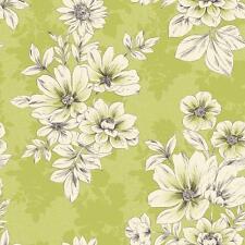 Rasch Tivoli fleurs Carré Motif papier peint texturé métallique vert