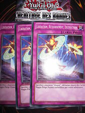 YU-GI-OH! LVAL-FR068 LIBERATION RETOURNEMENT DESTRUCTION PLAYSET (3 CARTES) NEUF