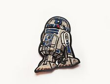 1x R2D2 robot Star Wars patch Iron On Embroidered Applique science fiction
