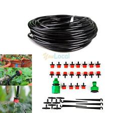 DIY Garden Plant Self Watering Dripper Irrigation System 10M Hose faucet connect