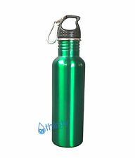 Stainless Steel Mug Green Container Water Bottle BPA Free Thermos Canteen 16 oz
