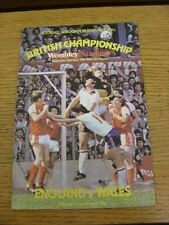 20/05/1981 England v Wales [At Wembley] . Thanks for viewing our item, when list