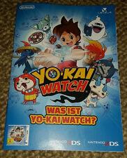 Yo-Kai Yokai Watch Nintendo PUBBLICITARIO PROMO prospetto LIBRETTO OPUSCOLO COMIC 3ds NUOVO