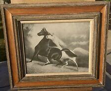 "Antique Print ""Spirited Horses 2"" ~ Copyright 1900 By LM Johnson Chicago"