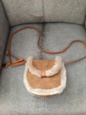 UGG Australia Shearling Mini Crossbody Chestnut Women's Purse NEW!!!