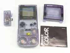 Vintage Nintendo Game Boy Color Purple + Mad Cats Accessories, 7 Games & Case