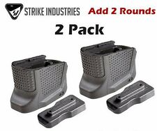 Strike Industries Glock 43 Magazine Base Plate Enhanced Extension +2 Rd (2 Pack)