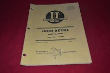 John Deere 2510 2520 Tractor I&T Shop Manual DCPA6
