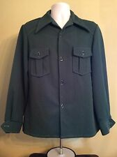 Vtg 70s Polyester Leisure Suit Jacket Green M 1970s Disco